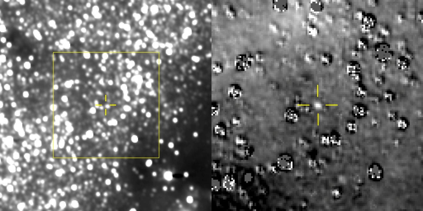The first images form New Horizons of Ultima Thule in the Kuiper Belt, highlighted in yellow