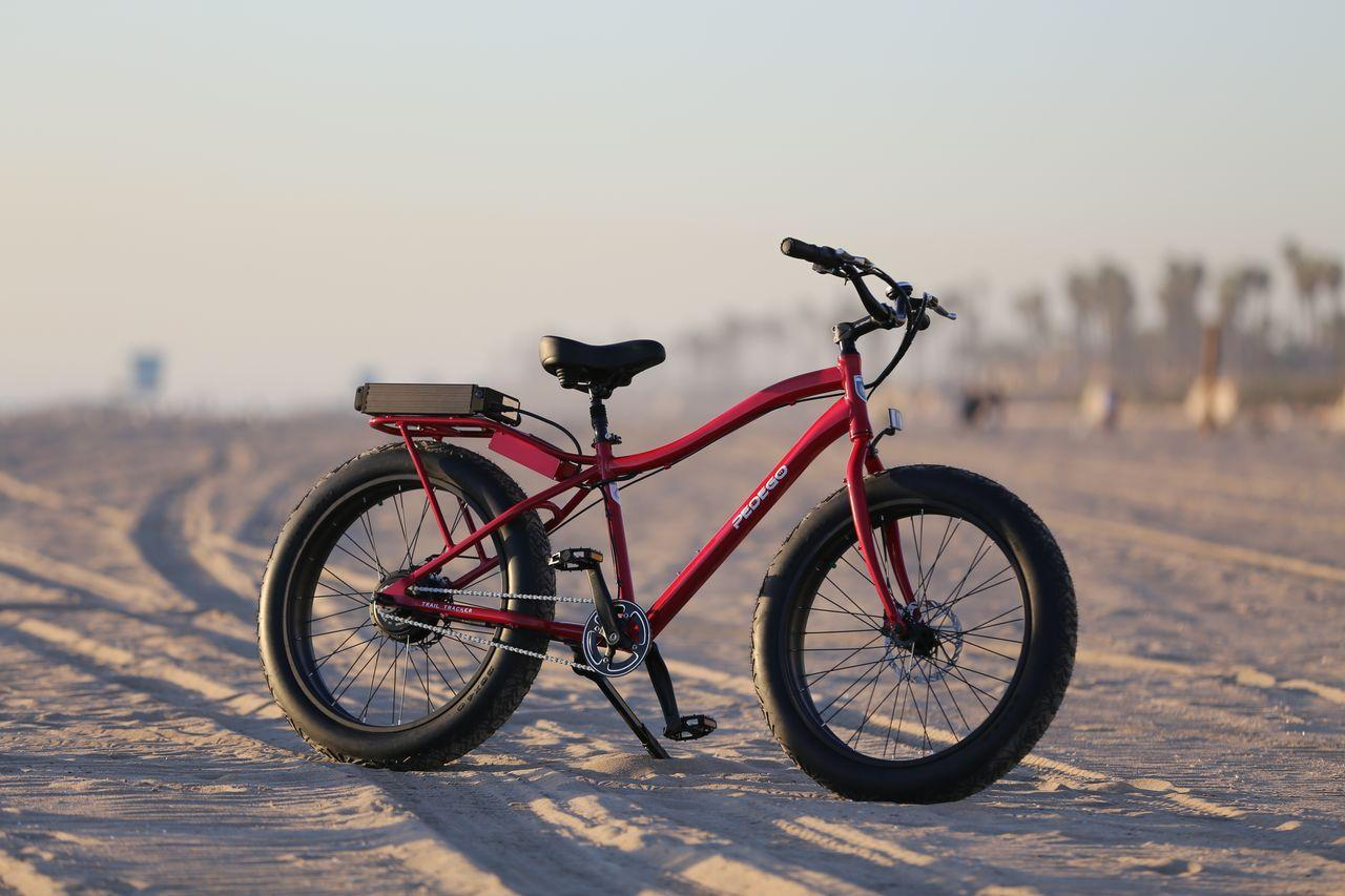 "Pedego has released an electric ""fatbike"" mountain bike, known as the Trail Tracker"