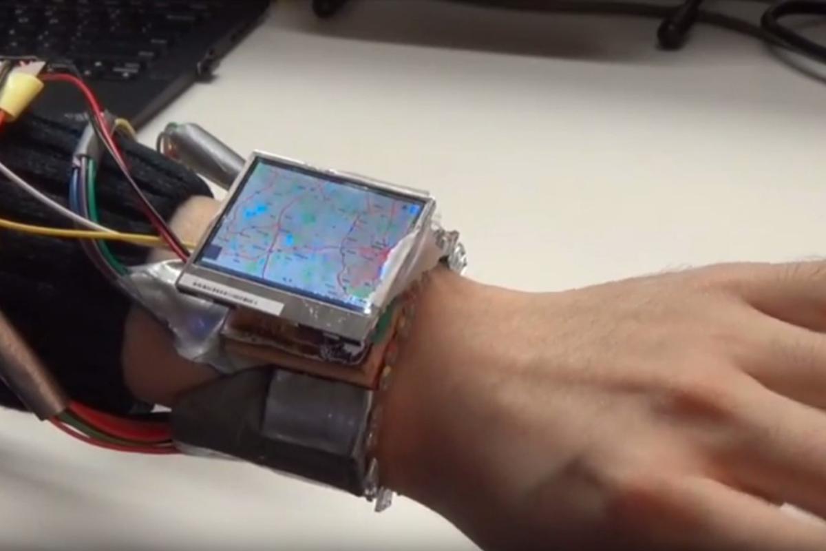 The WristWhirl prototype