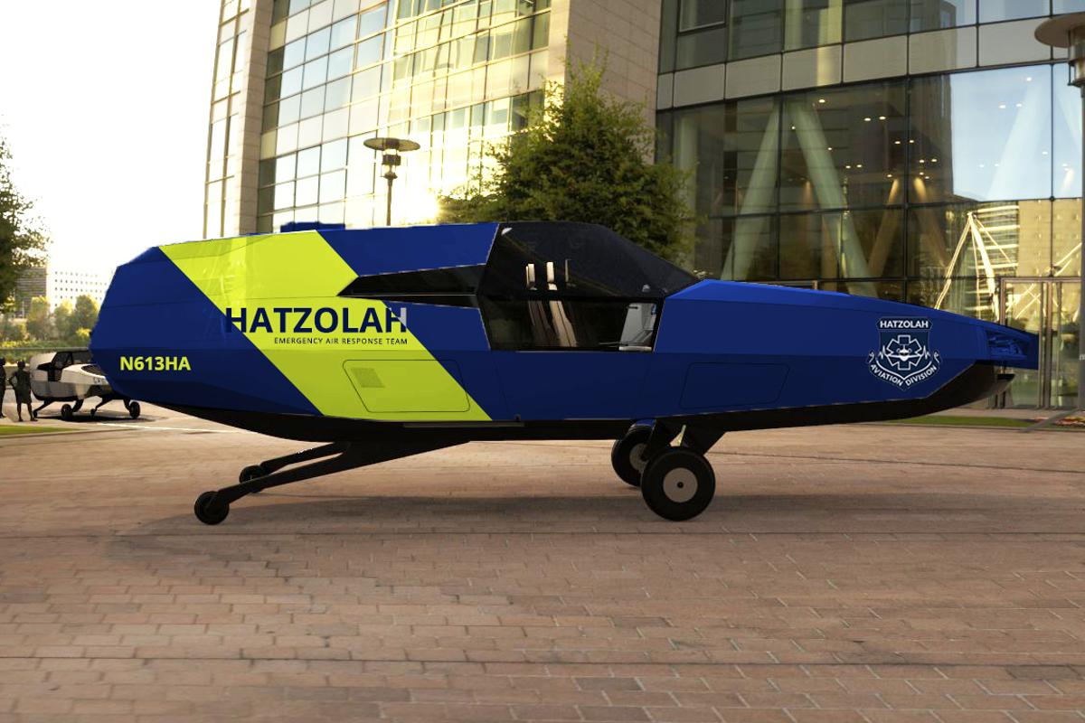 Rendering of how the CityHawk might look in Hatzolah livery
