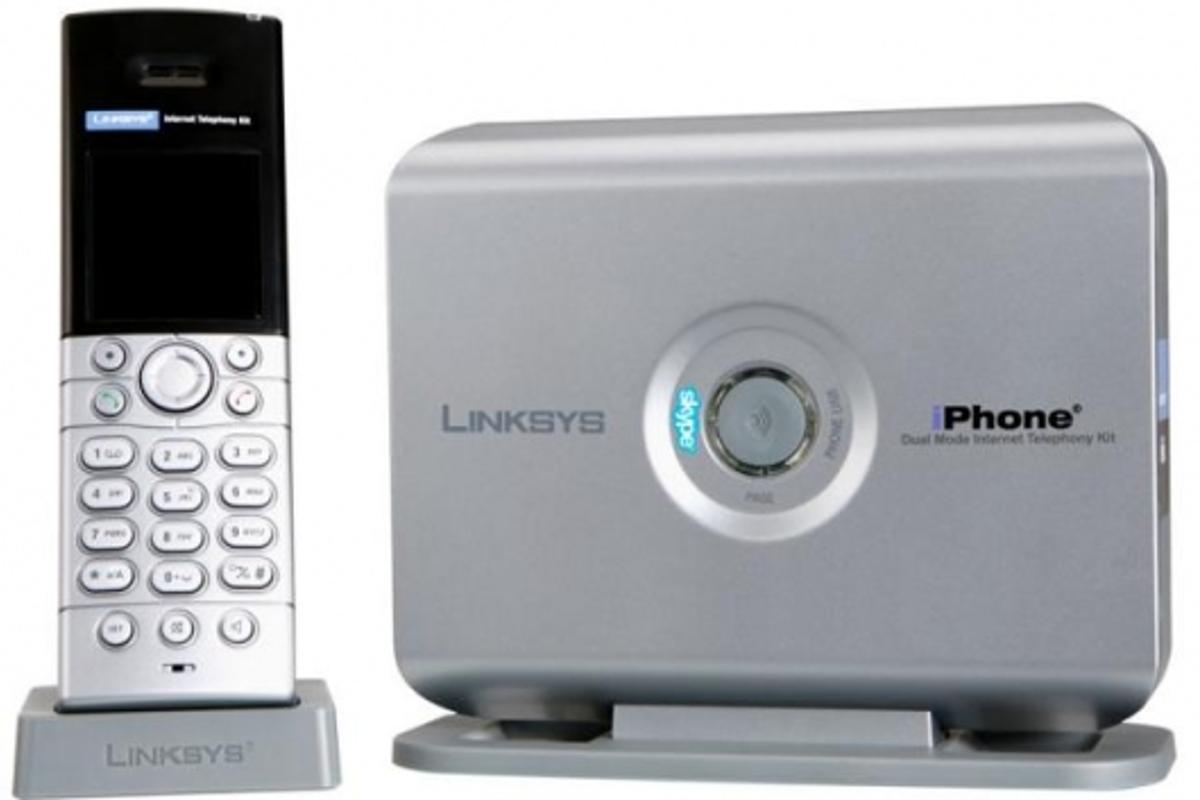 The Linksys iPhone CIT400 with integrated Skype.