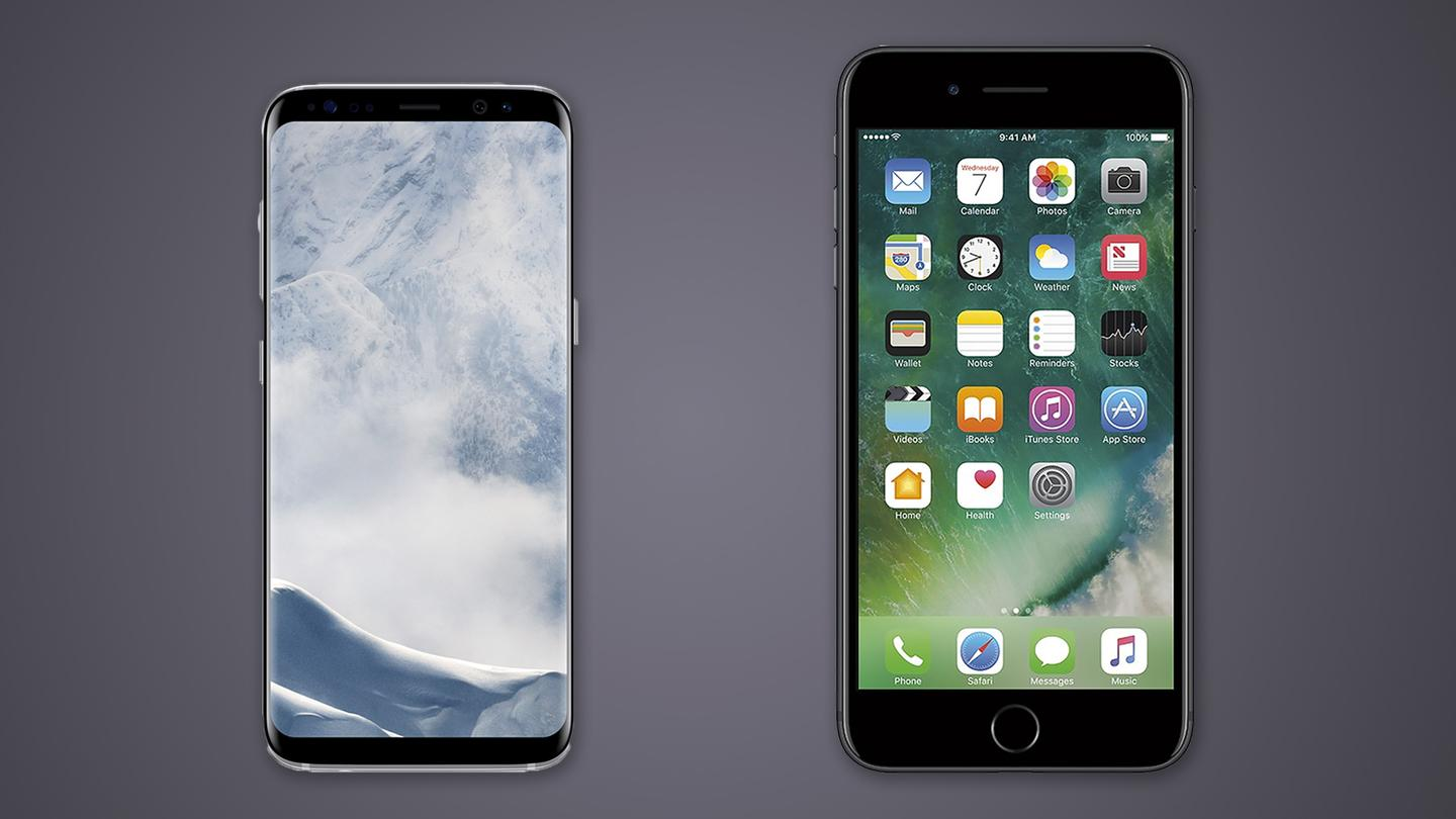Here's how the smaller Galaxy S8 flagshipcompares to Apple's latest phablet, the iPhone 7 Plus