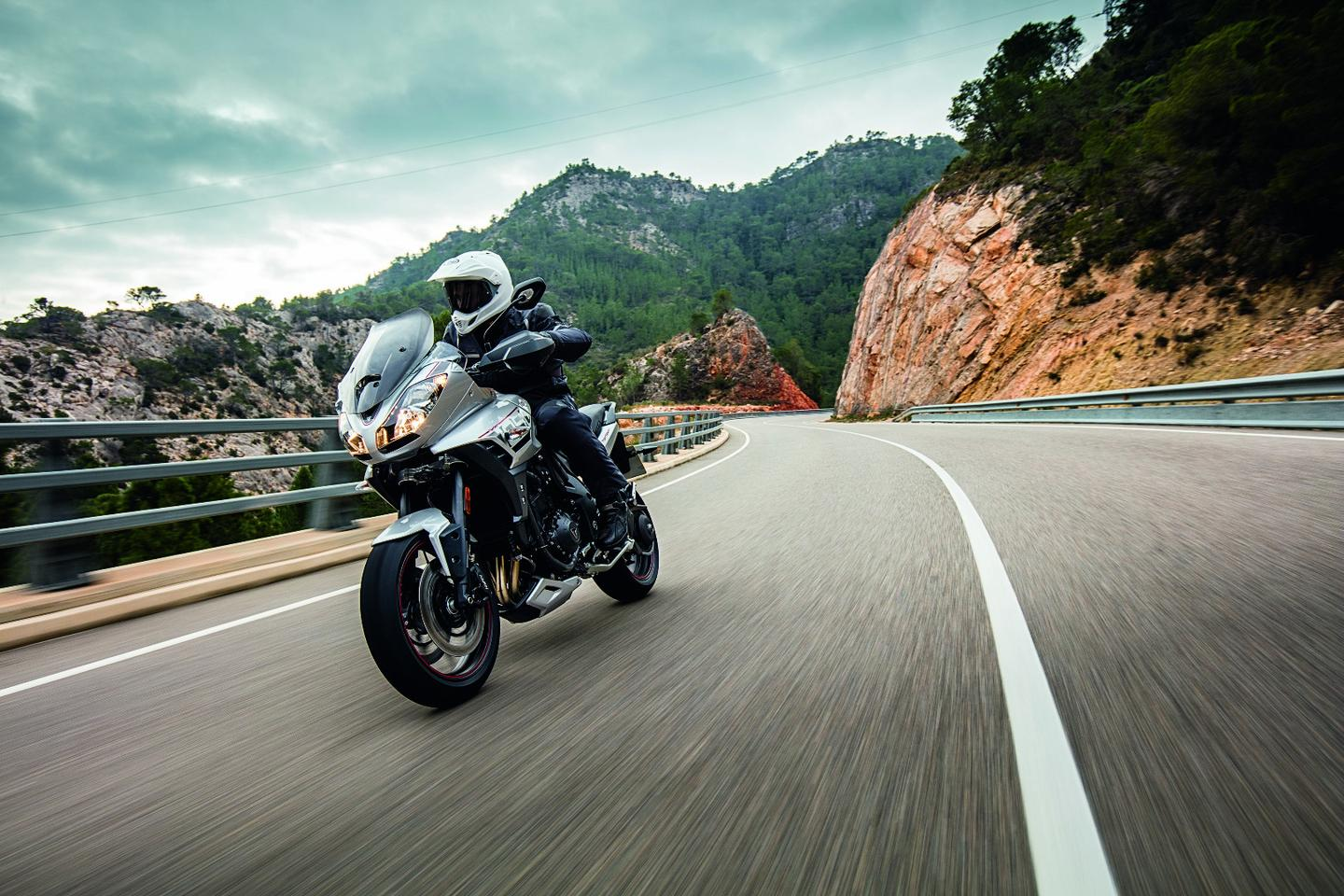 The 2016 Triumph Tiger Sport in action