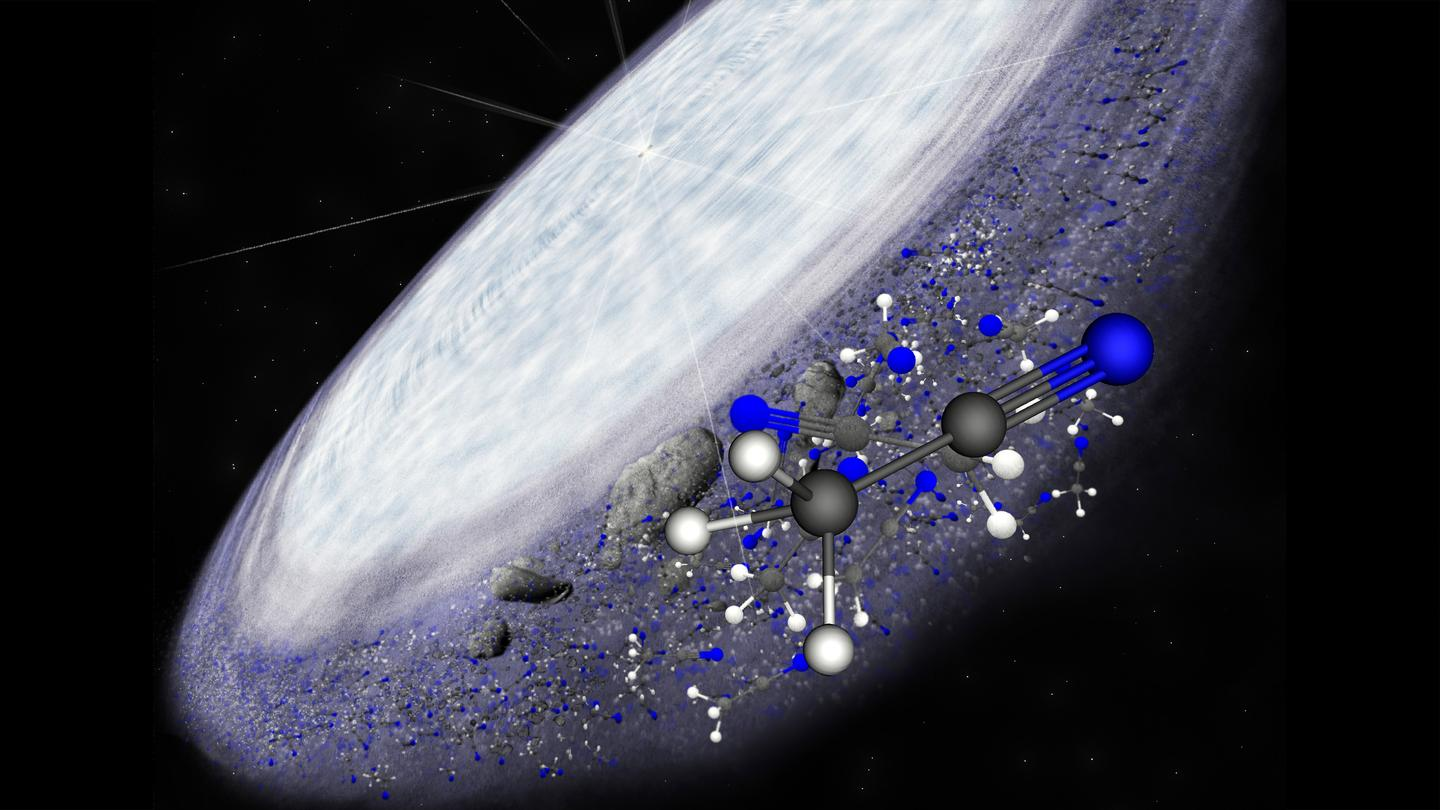 An artist impression of the protoplanetary disk surrounding MWC 480 (Image: B. Saxton/NRAO/AUI/NSF))