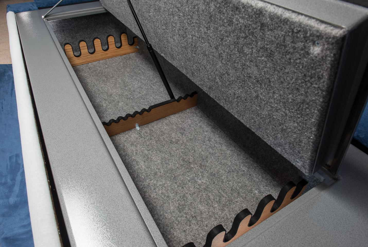 The gun safe itself measures 78 x 29.5 x 14 in (198 x 75 x 36 cm), which the company claims is enough to hold up to 30 rifles with room left over for some ammo, smaller guns, or any other objects you want locked up