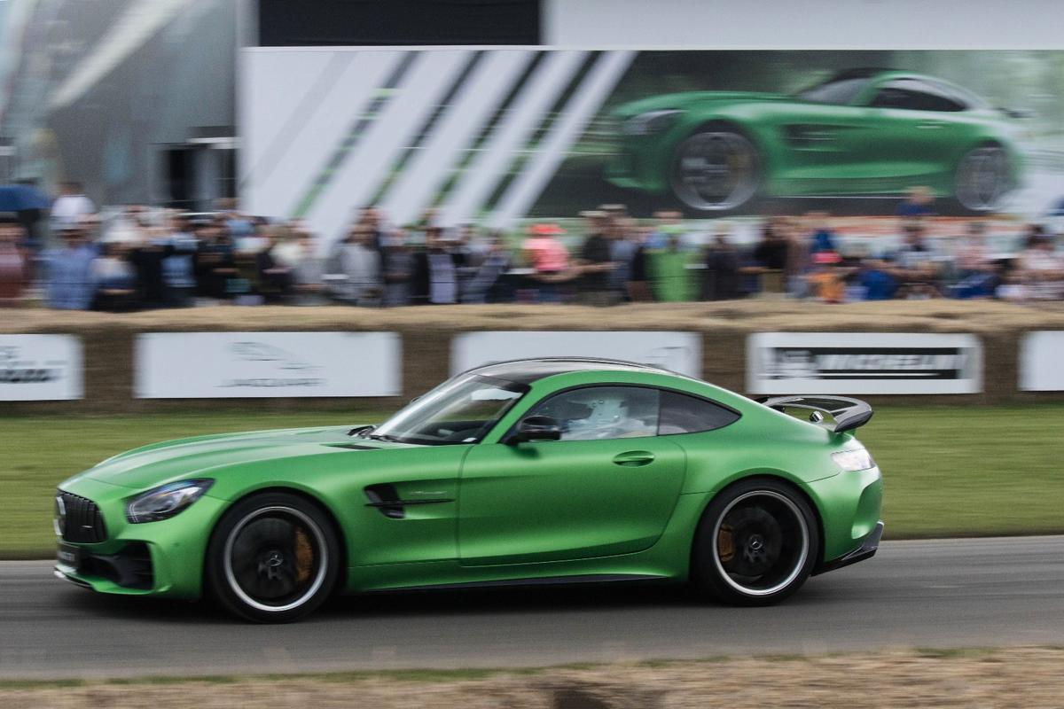 The Mercedes-AMGGTRdebuts at the Goodwood Festival of Speed