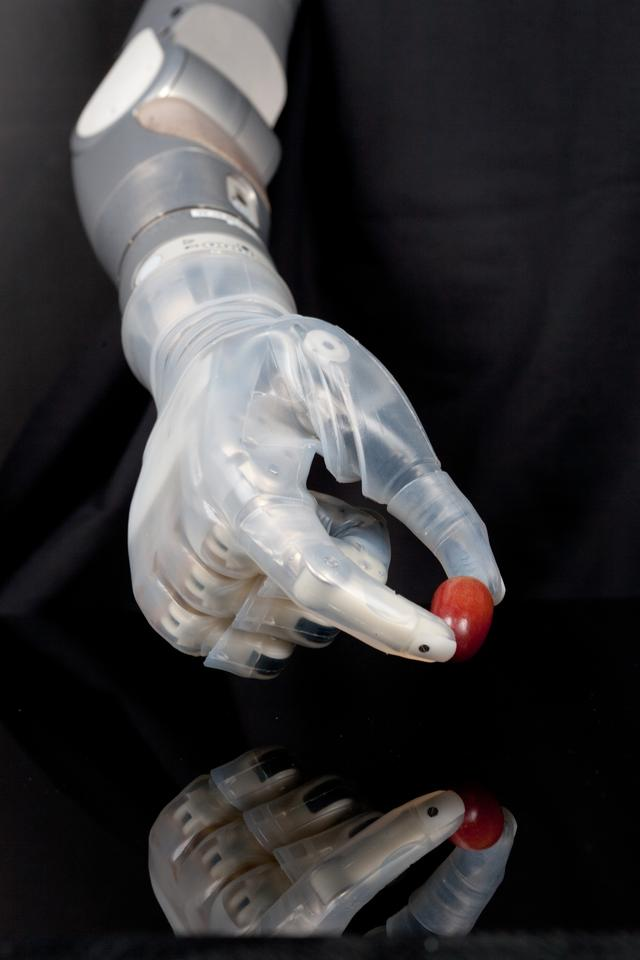 The DEKA Arm uses sensors and muscle control to carry out complex tasks