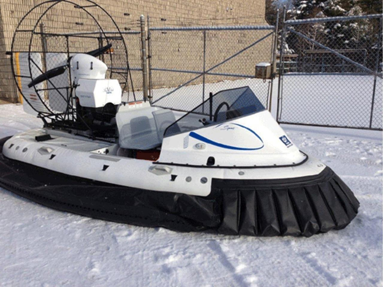 AirRider hovercraft showing hybrid skirt