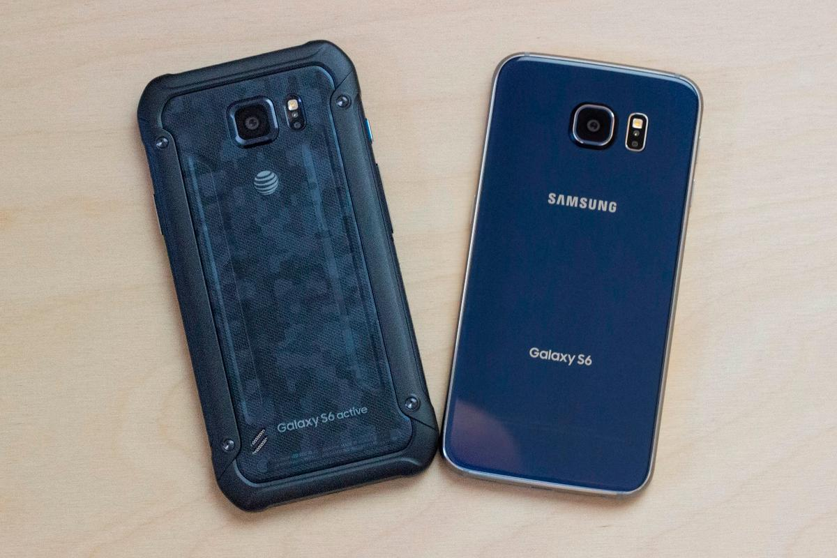 Gizmag compares the Samsung Galaxy S6 Active (left) to the Galaxy S6: two outstanding phones that complement each other perfectly