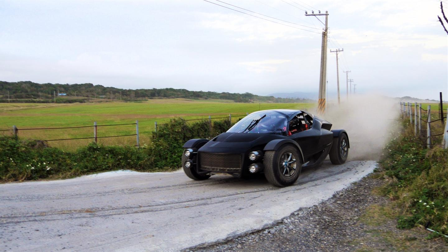 Xing's Miss R rally-inspired supercar gets its new bodywork dusty in latest off-road tests