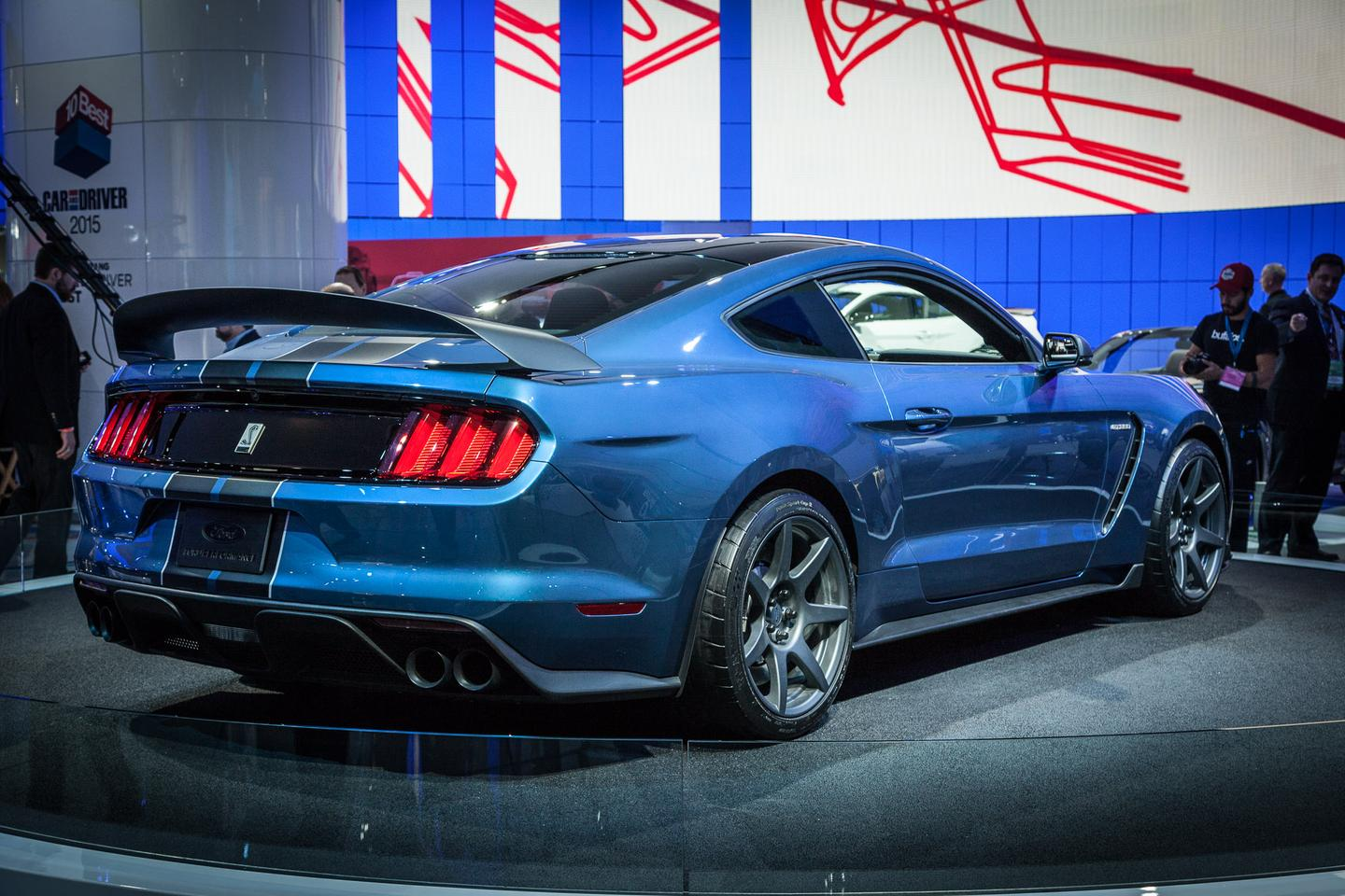 Ford's Shelby Mustang GT350R is much lighter and stripped down for 2015. Everything that doesn't make it faster around a racetrack has been thrown out, from aircon to the reversing camera (Photo: Gizmag/Loz Blain)
