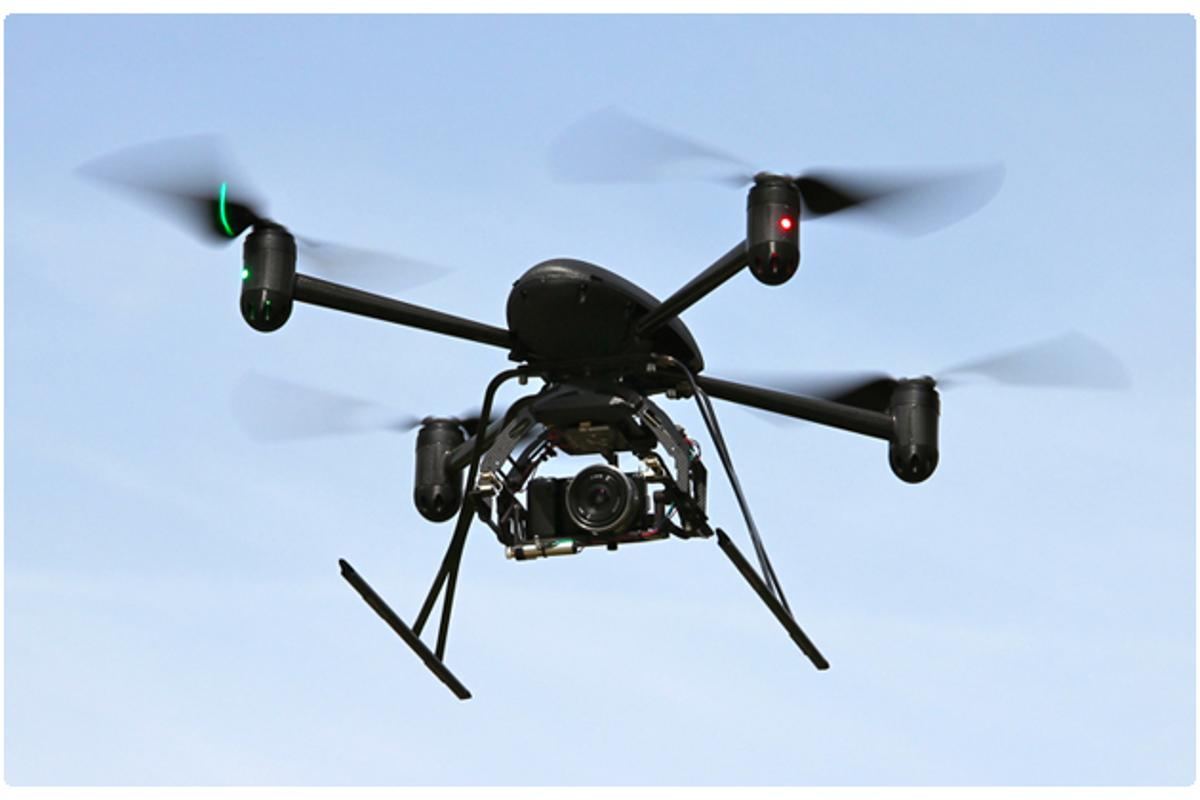 Draganfly Innovations' X4-P quadcopter, which is similar to the model used in the rescue