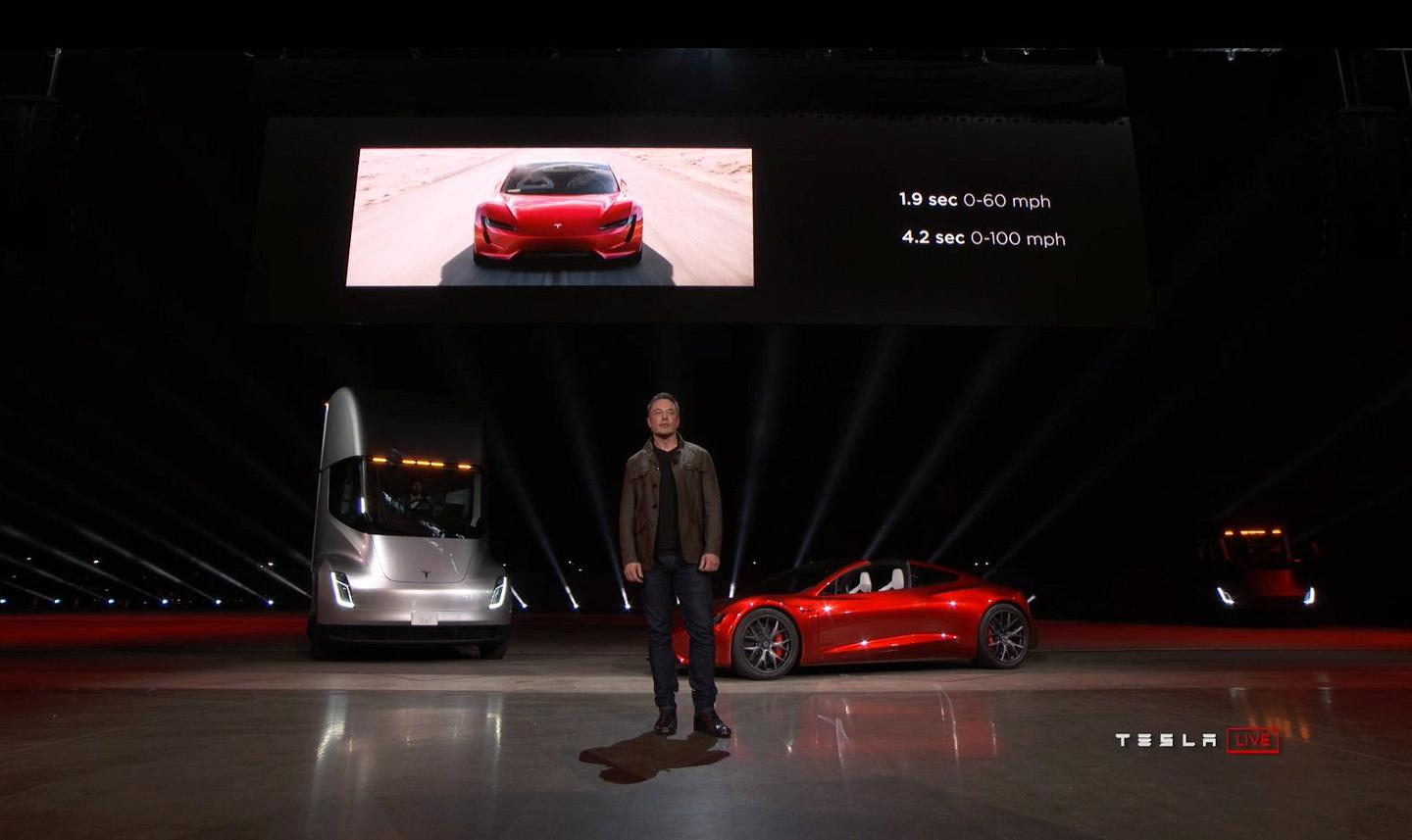 Tesla Reveals Insanely Fast Next Gen Roadster