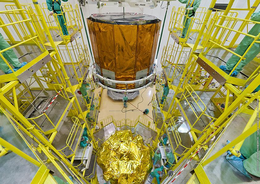Gaia lowering onto Fregat stage (Photo: ESA)