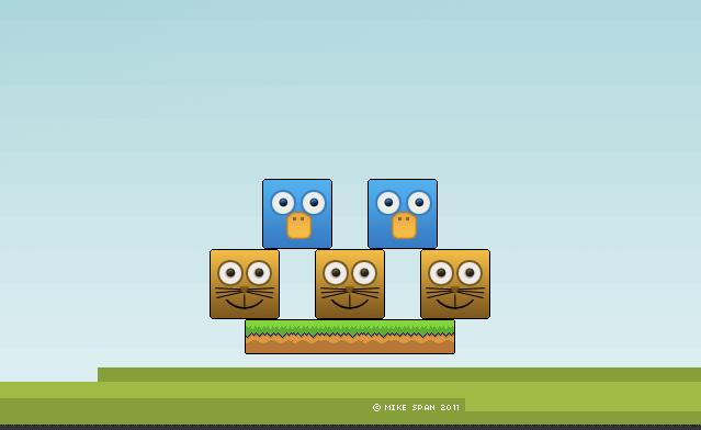 Odd ducks is a game that was created using iStencyl