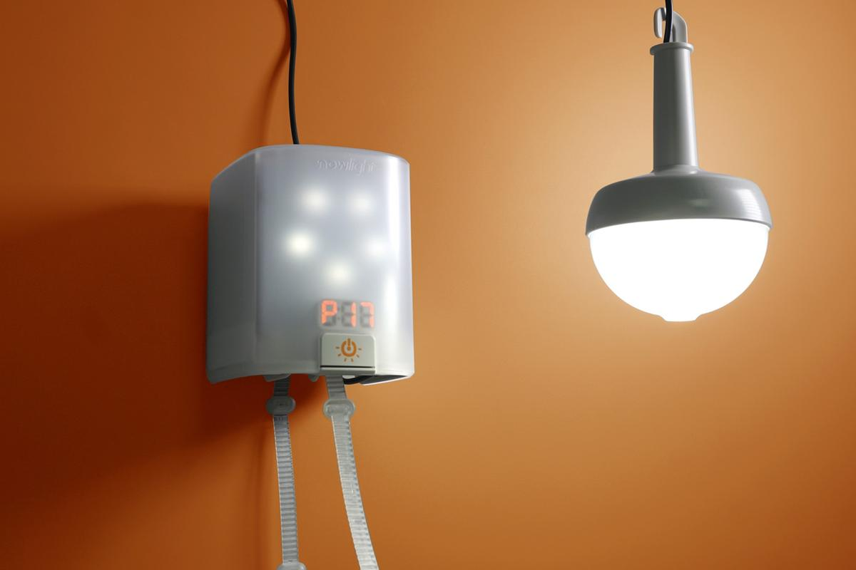 The SatLights let users spread light around from the single NowLight base