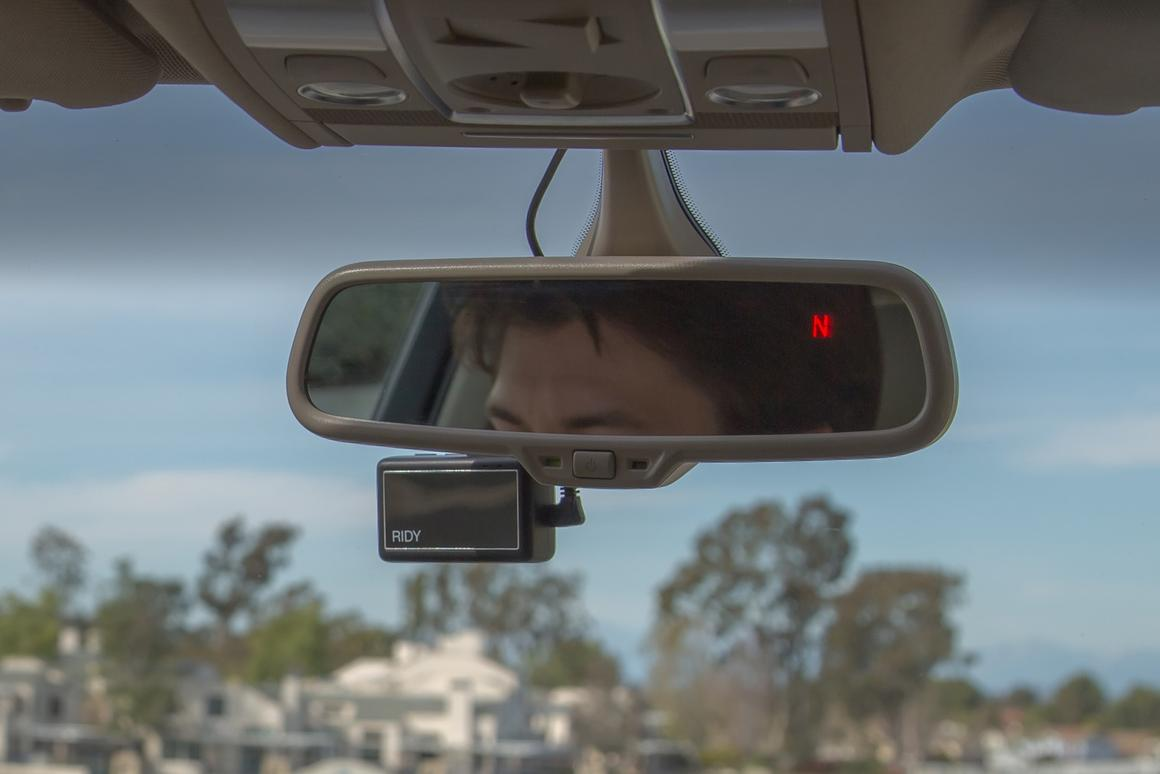 Ridy (below mirror) is made to monitor drivers