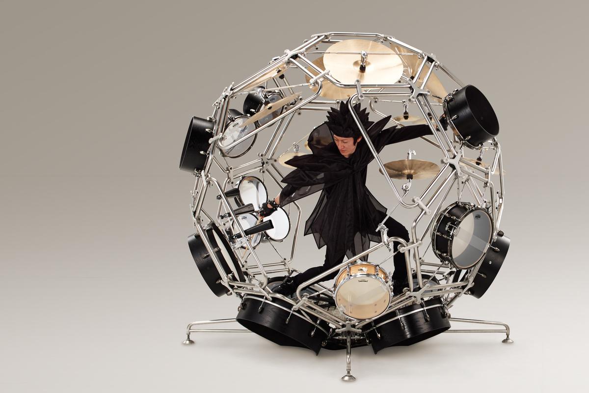 The Raijin drum kit prototype from the Yamaha Motor Company Design Center