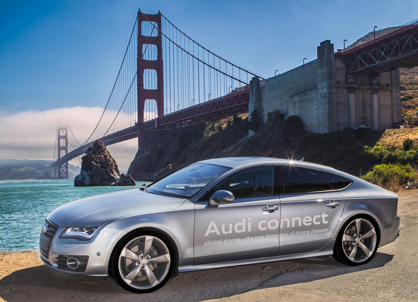 Audi announced it will be the first auto manufacturer to receive an autonomous driving permit from the state of California