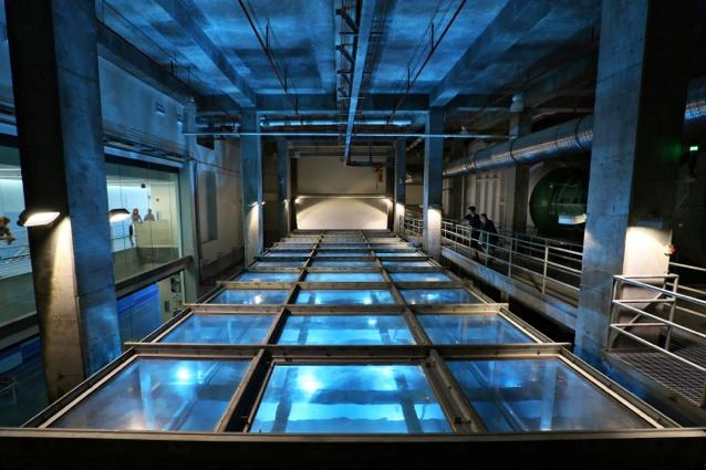 A newly built indoor tank at the University of Miami can generate winds in excess of 250 km/h (155 mph)