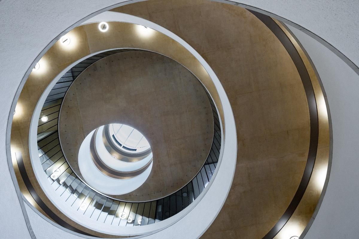 The Blavatnik School of Government by Herzog & de Meuron is one of this year's six Stirling Prize finalists