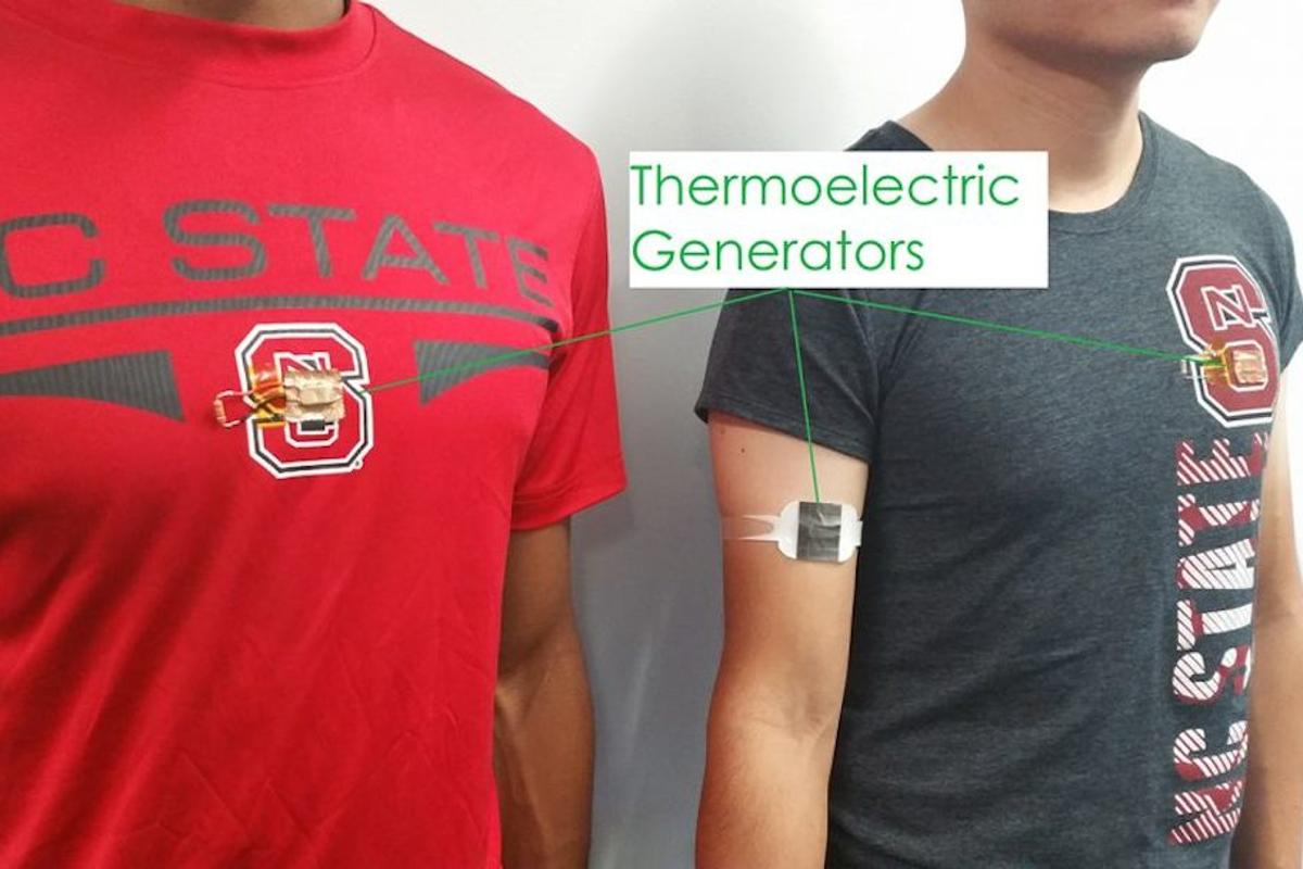 NCSU researchers have developed wearables that harvest body heat and turn it into electricity