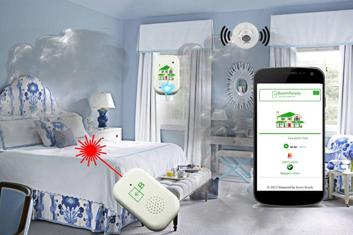 The Beam Ready BR-1000H is mounted on the inside of bedroom windows, and can be monitored or activated via an app
