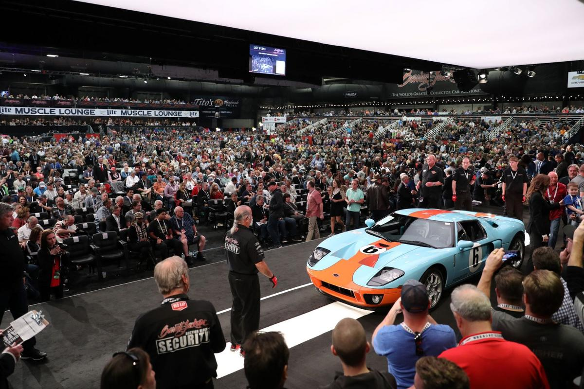 With television viewing of Barrett-Jackson offerings, the company's auctions are becoming a legitmate spectator sport, complete with massive arenas and non-stop entertainment