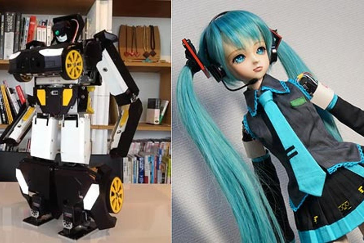 Two impressive hobby robot projects from Japan show what is possible with current consumer-level technology