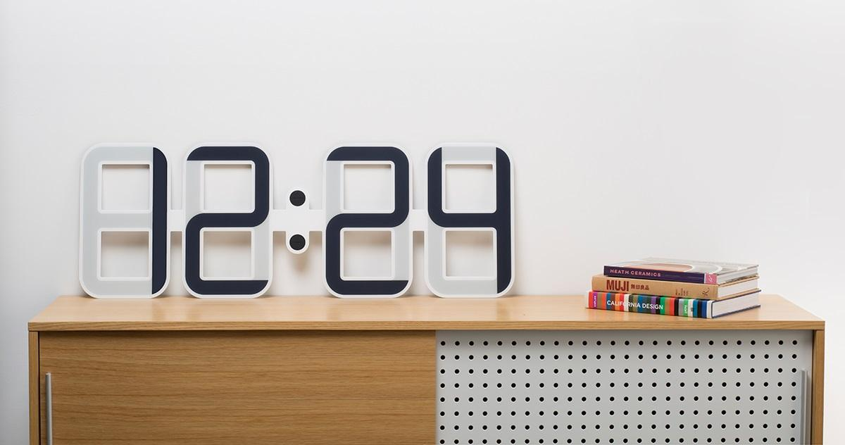 The Twelve24 ClockONE is the world's first E-Ink wall clock, which gives it several advantages over traditional designs