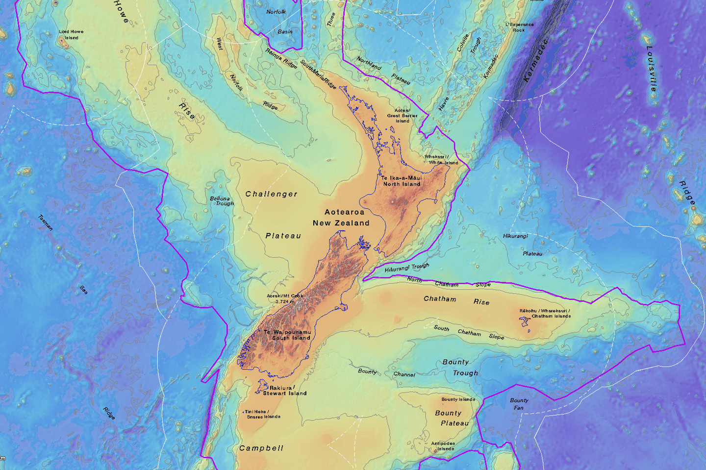 New maps and a new website let people explore the ancient sunken continent of Zealandia