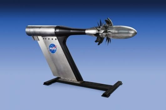 GE and NASA plan to test a number of open-rotor fan blade systems for jet aircraft enginesImage via GE Aviation