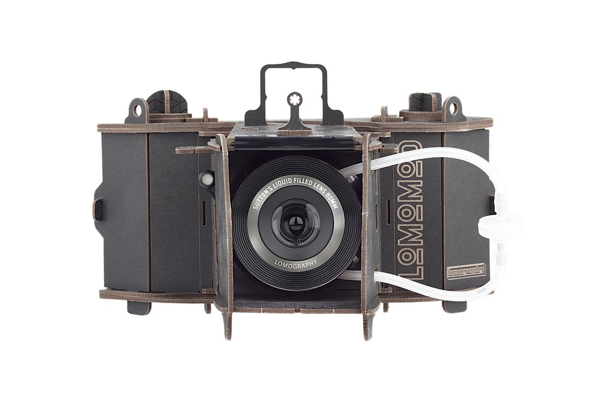 The LomoMod No. 1 medium-format camera with Sutton liquid-filled lens out front