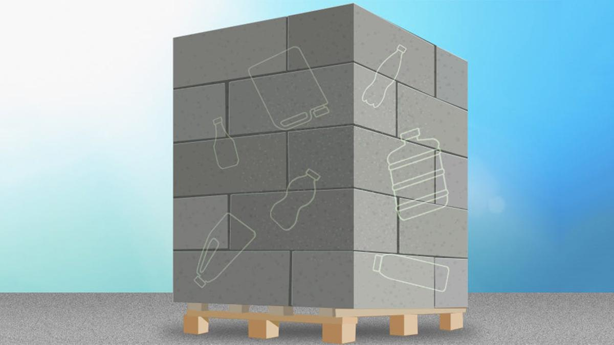 Adding a small amount of irradiated plastic to concrete can make it up to 20 percent stronger