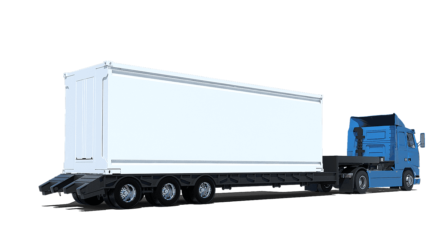 The unit can be transported on a standard truck