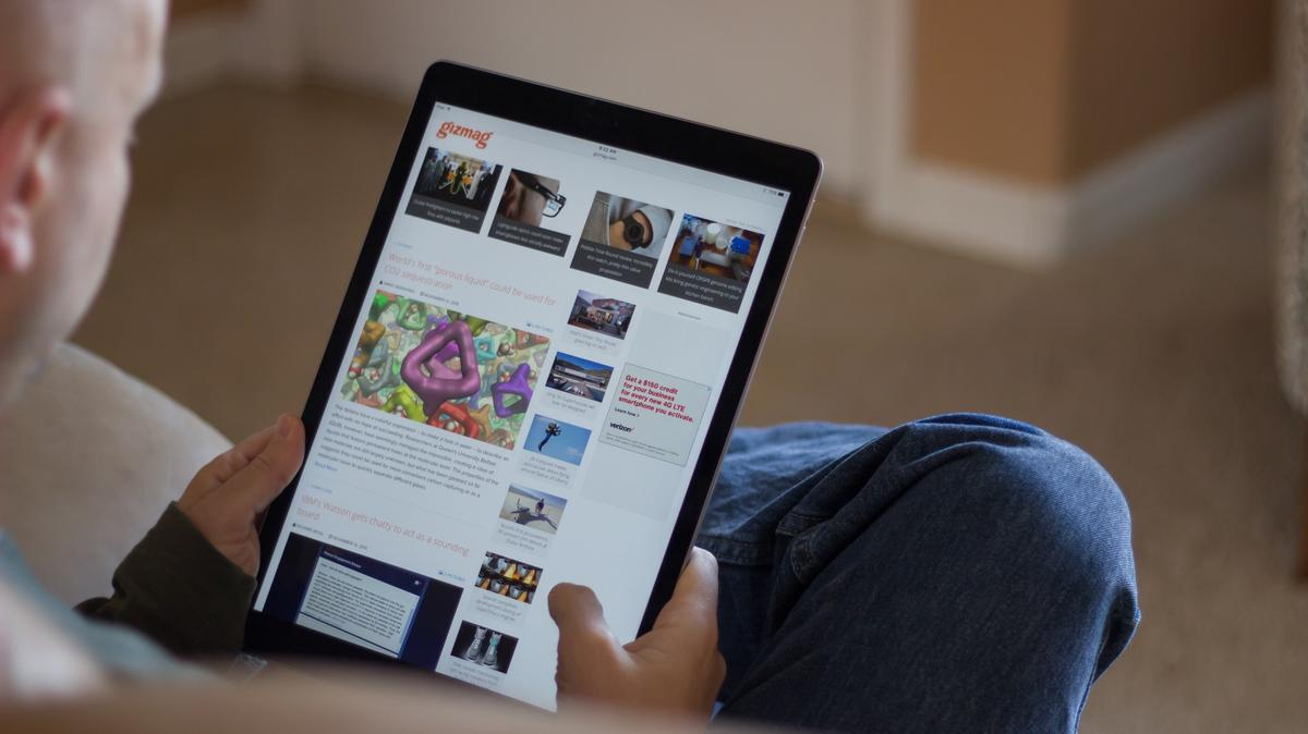 The iPad Pro makes for a huge tablet, but (at 713 g/1.6 lb) is pleasantly light for its size