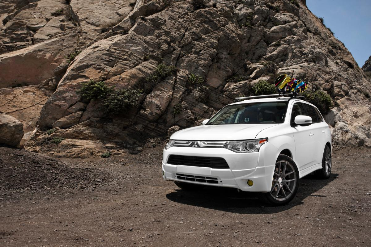 The Mitsubishi Outlander Winter Edition is ready for the slopes and backcountry