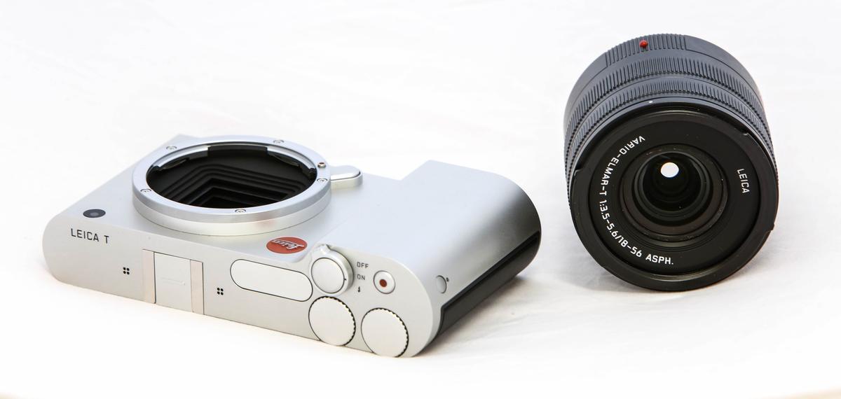 Leica T with 18-56mm f/3.5-5.6 Vario-Elmar-T lens (Photo: Loz Blain/Gizmag)