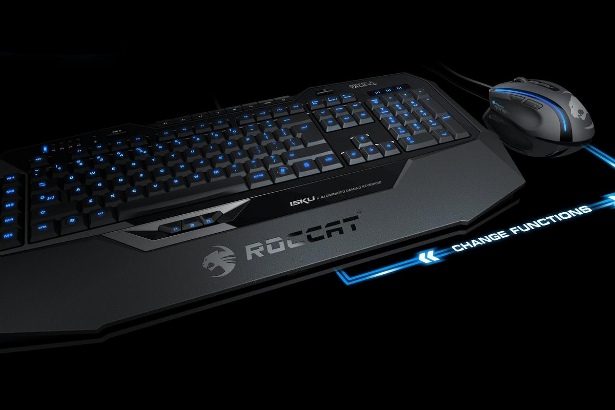 The new ROCCAT Isku with Talk technology that allows the keyboard and mouse to talk to each other