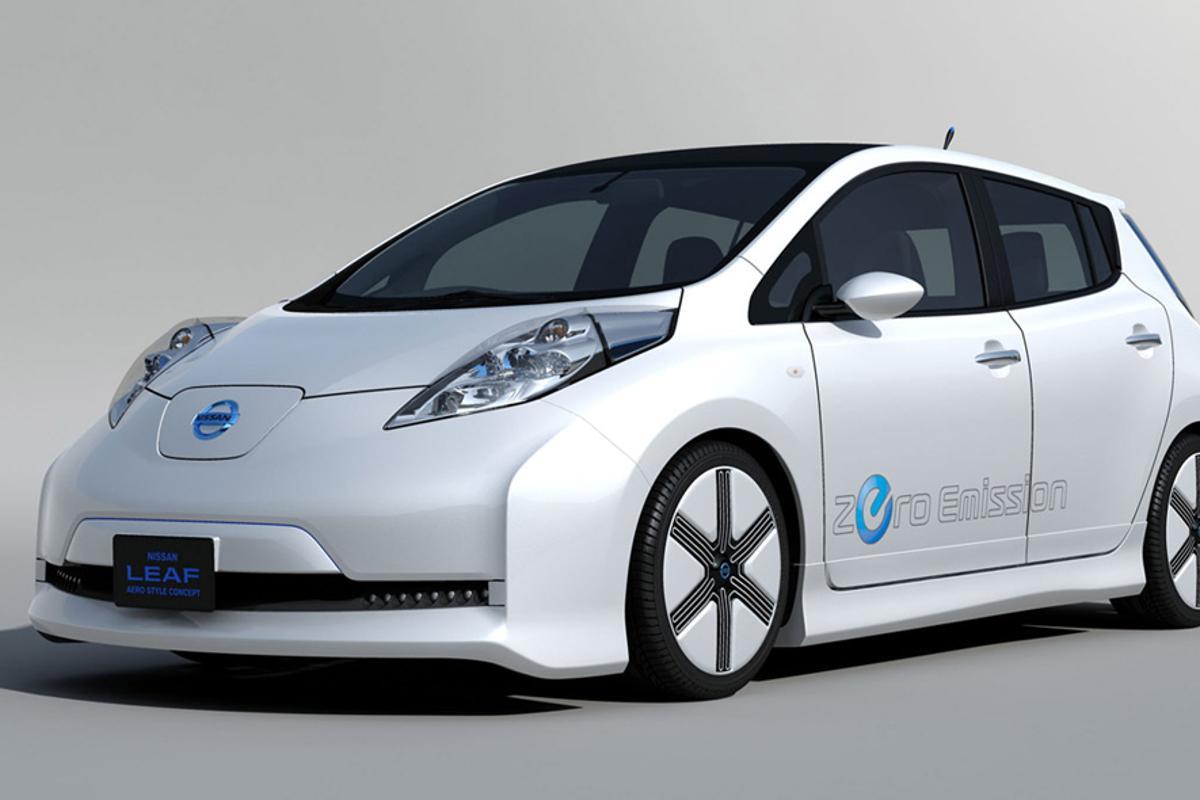 The Nissan LEAF Aero Style Concept