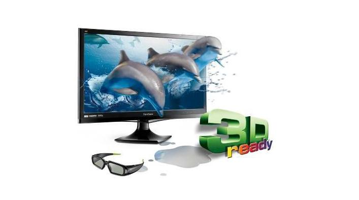 ViewSonic's V3D245wm-LED monitor with 3D emitter