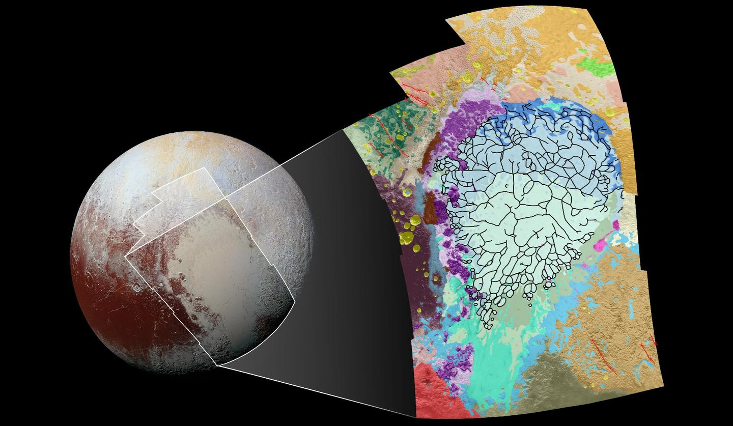 Image displaying the region included in a new map of Pluto's surface