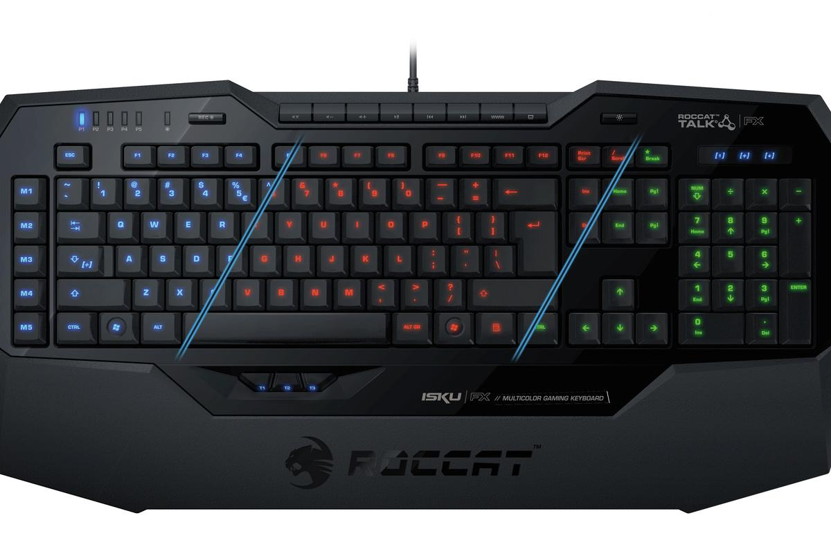 ROCCAT's new Isku FX Multicolor Gaming Keyboard features 36 macro keys and backlighting options in 16.8 million colors that correspond to in-game actions