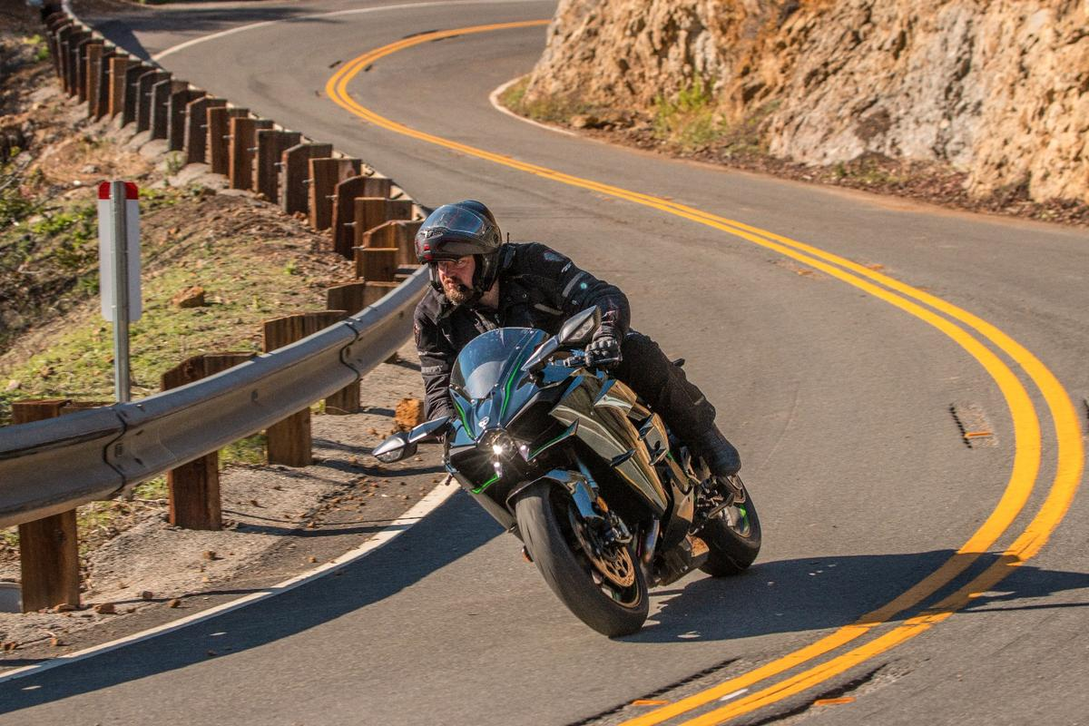 Kawasaki Ninja H2: a handful in the tight stuff and the lower gears