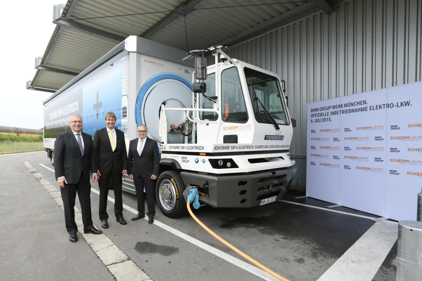 The truck will complete 8 daily runs between BMW's plant and manufacturer SCHERM's plant in Munich