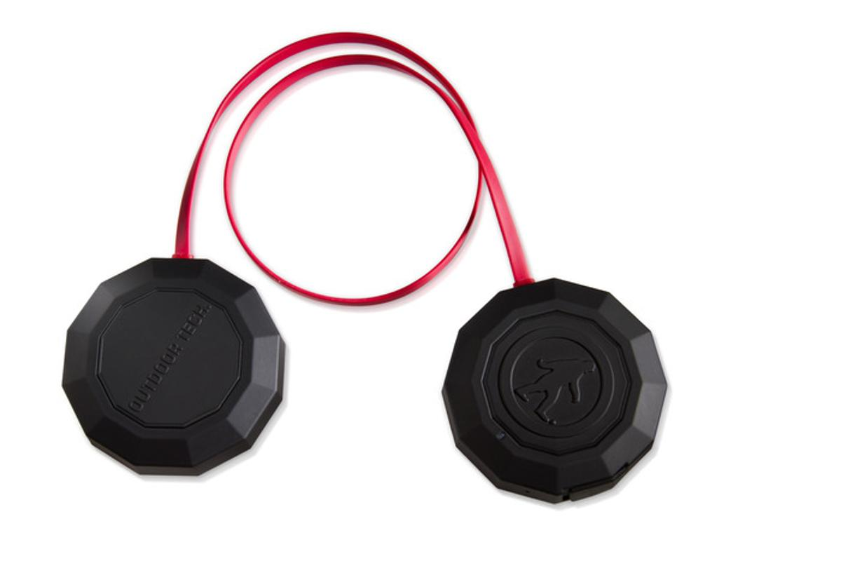 The CHIPS All-In-One Headphones in their basic form, with a patented two-button control system