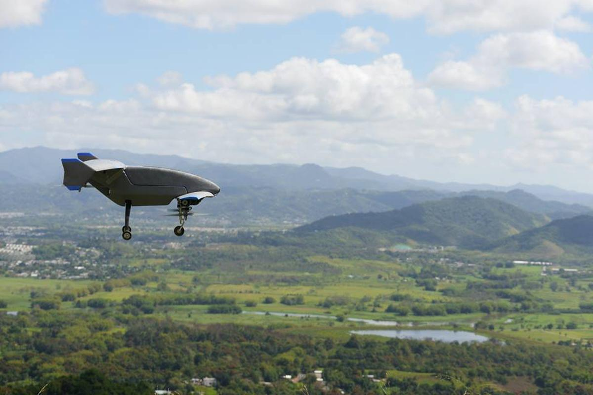The Vertex can hover like a quadcopter, or fly fast like a fixed-wing aircraft