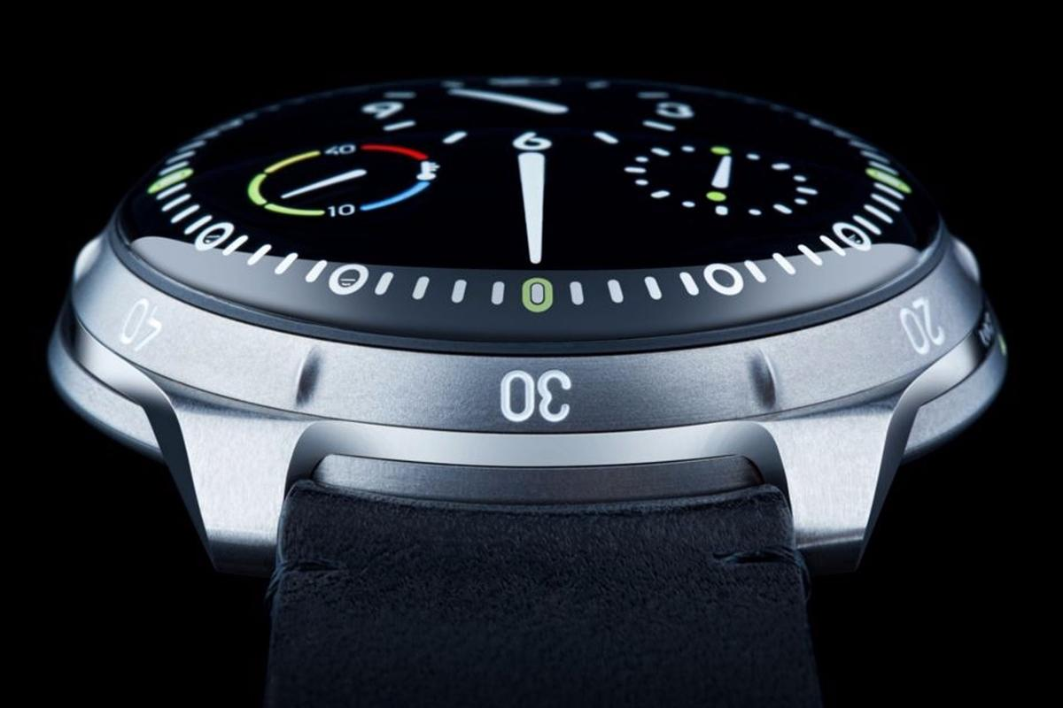 The Ressence Type 5 is filled with oil to resist pressure and improve readability