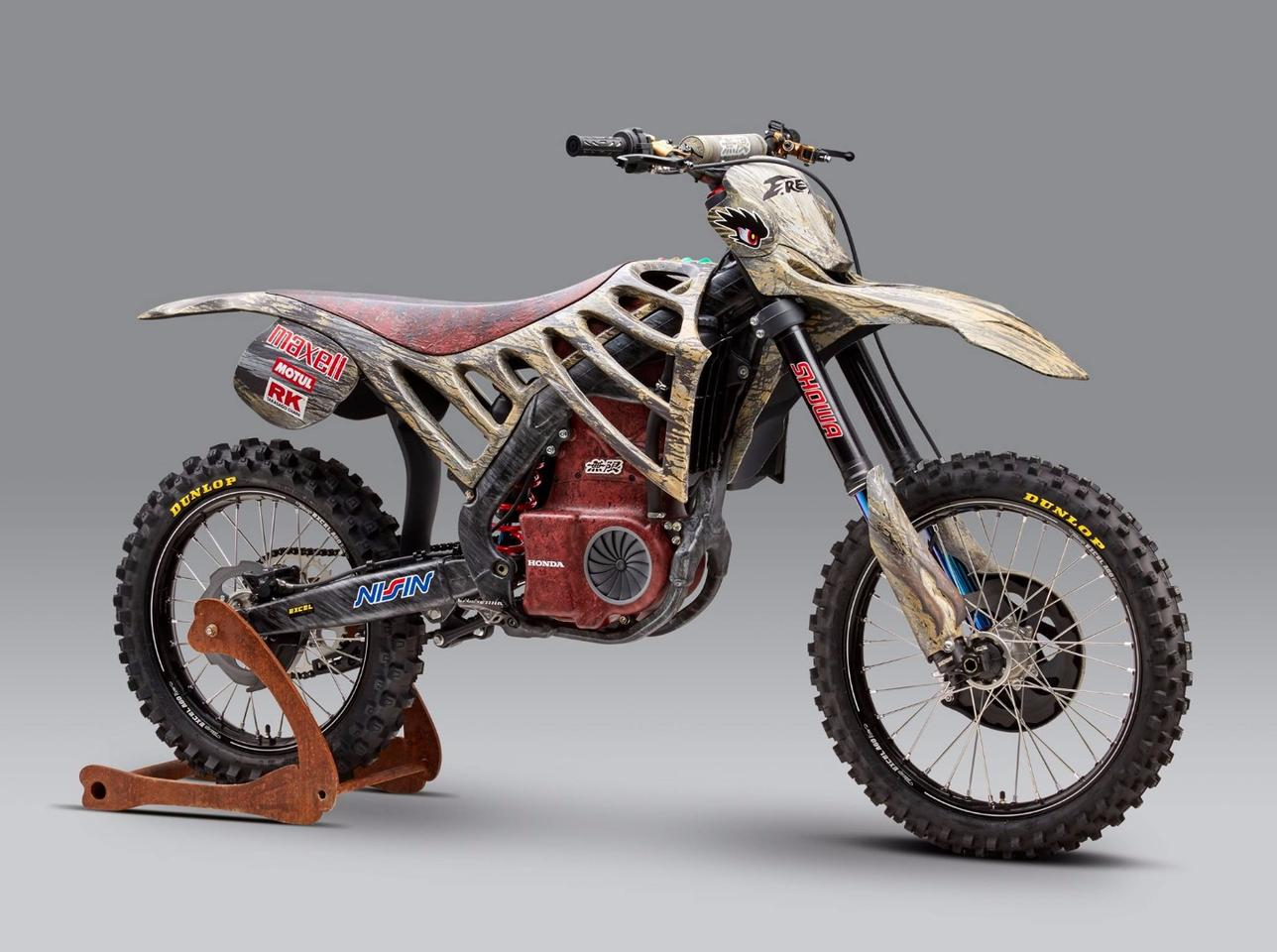 The E.Rex is a concept motocross racer by Mugen and Honda