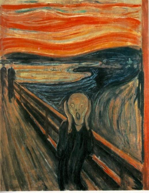 "Munch's ""The Scream"" - a classic representation of sheer terror."